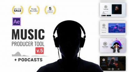 پروژه افترافکت ویژوالایزر موزیک Music Producer Tool