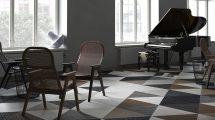 صحنه آماده سه بعدی پیانو در اتاق نشیمن BeInspiration 44