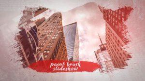 پروژه افترافکت اسلایدشو با براش نقاشی Brush Paint Slideshow