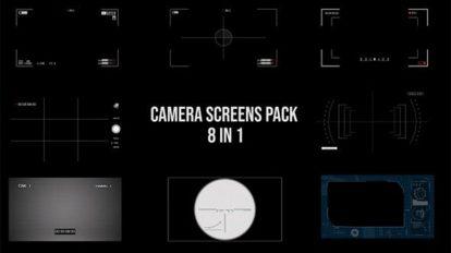مجموعه ویدیوی موشن گرافیک اسکرین دوربین Camera Screen Pack