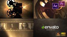 پروژه پریمیر نمایش لوگو با پروژکتور فیلم Cinema Projector Logo