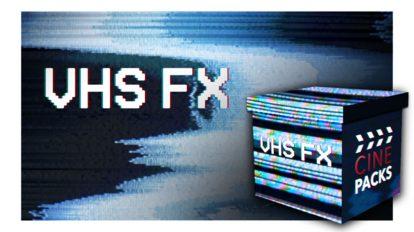 مجموعه ویدیوی موشن گرافیک افکت نوار ویدیویی CinePacks VHS FX
