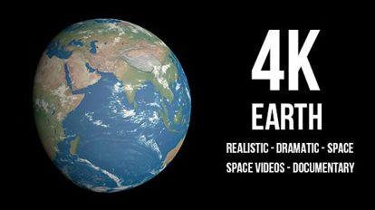 مجموعه ویدیوی موشن گرافیک واقعگرایانه حرکت زمین
