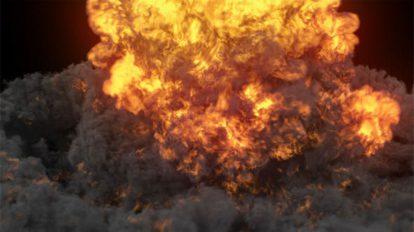 مجموعه ویدیوی موشن گرافیک انفجار آتشی Explosion Pack