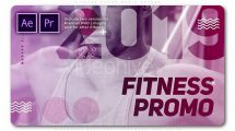 پروژه پریمیر تیزر تبلیغاتی بدنسازی Fitness Promo Media Opener