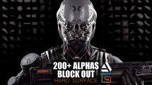 مجموعه تصاویر آلفا برای مدلسازی Alphas Block Out Hard Suface