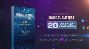 مجموعه ویدیوی موشن گرافیک ذرات پارتیکلی Magical Glitters Vol 1