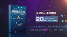مجموعه فوتیج ذرات پارتیکلی براق Magical Glitters Vol 1