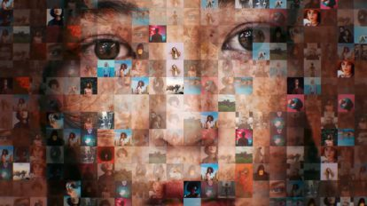 پروژه افترافکت نمایش لوگو با موزاییک عکس Mosaic Photos & Videos Logo Reveal