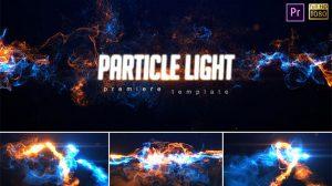 پروژه پریمیر نمایش لوگو پارتیکلی Particle Light