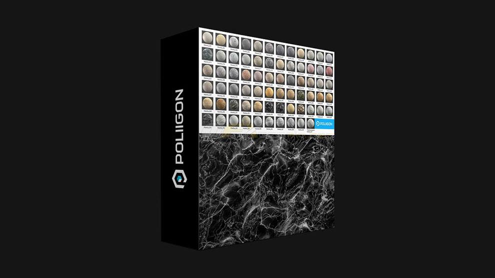 مجموعه تکسچر سنگ مرمر Poliigon Marble Collection