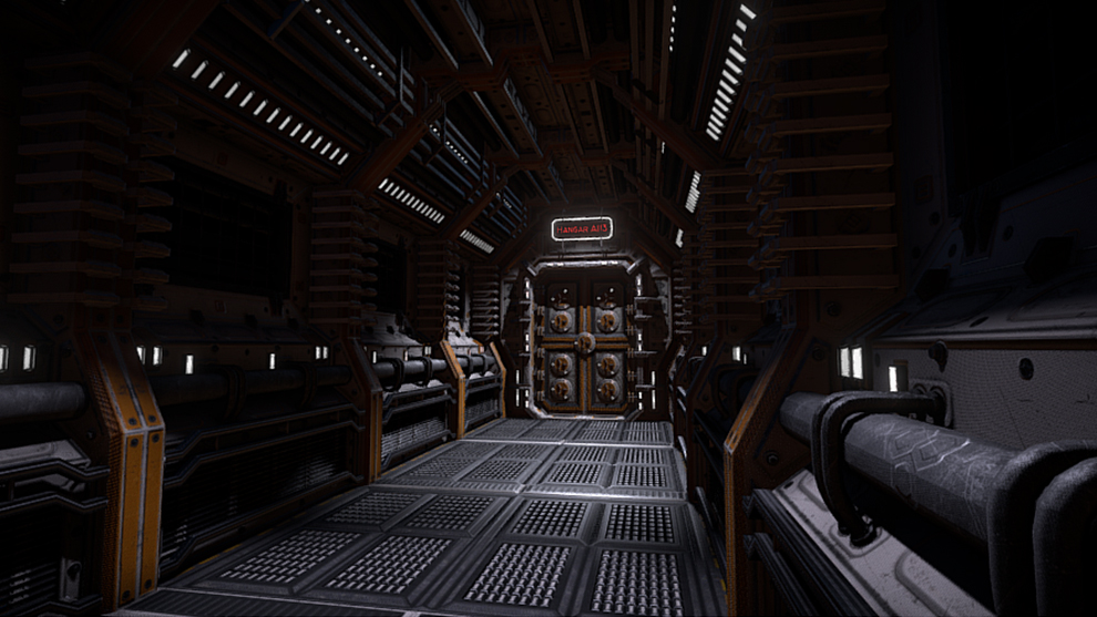 مدل سه بعدی راهرو صنعتی Sci-Fi Interior