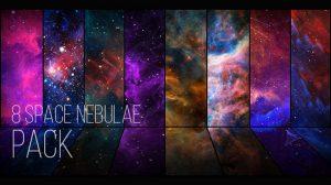 مجموعه ویدیوی موشن گرافیک زمینه متحرک فضا Space Nebulae Pack