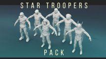 مجموعه مدل سه بعدی کاراکترهای تخیلی Star Trooper Pack