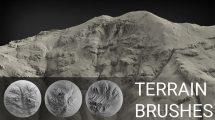 مجموعه براش سطح زمین برای زیبراش Terrain Brush Pack