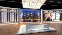 صحنه آماده سه بعدی استودیوی مجازی TV Studio Set