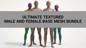 مجموعه مدل سه بعدی بدن زن و مرد Ultimate Base Mesh Bundle