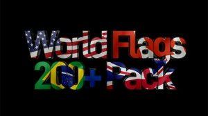 مجموعه ویدیوی موشن گرافیک پرچم کشورهای جهان World Flags Pack
