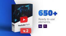 پروژه افترافکت اجزای ویدیوی شبکه اجتماعی Youtube Pack