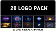 پروژه افترافکت مجموعه 20 تیزر نمایش لوگو Logo Pack