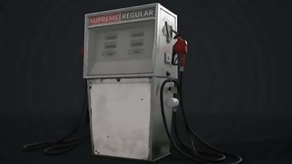 مدل سه بعدی پمپ گاز به سبک دهه 70