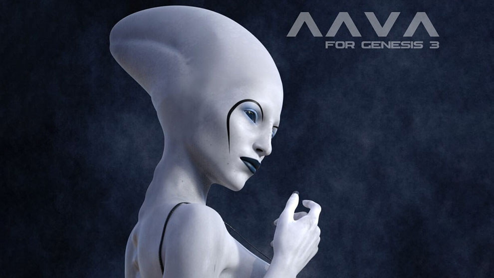 مدل سه بعدی کاراکتر تخیلی زن Aava Alien Species for Genesis 3 Female