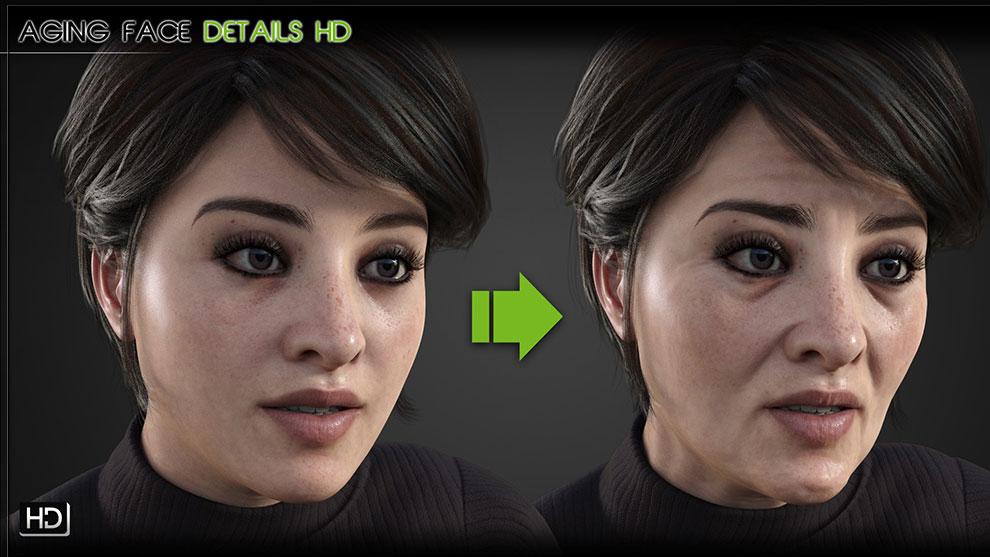 مجموعه پریست جزییات صورت پیر Aging Face Details