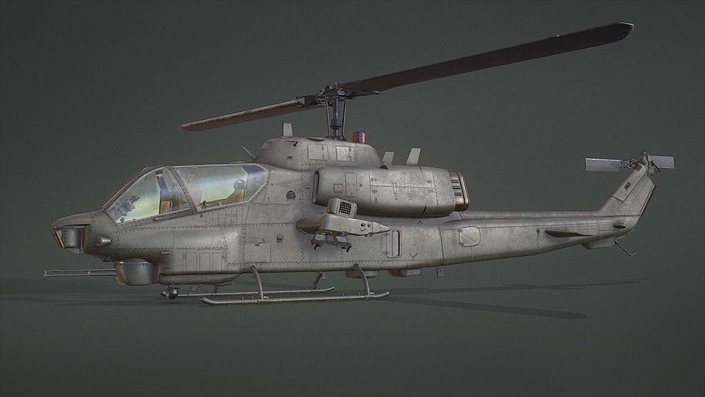 مدل سه بعدی هلیکوپتر نظامی AH-1W Supercobra Attack Helicopter