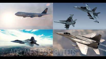 مجموعه فوتیج پرواز هواپیما در آسمان Airplanes Pack