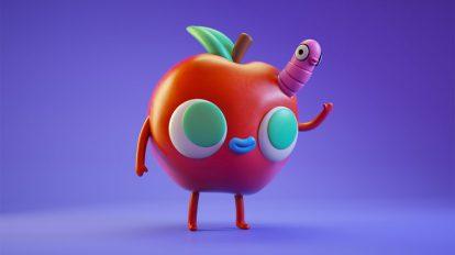 پروژه سینمافوردی کاراکتر سیب Apple Vinyl Toy