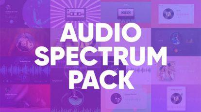 پروژه افترافکت ویژوالایزر موزیک Audio Spectrum Pack