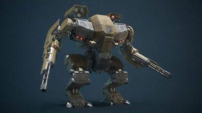 مدل سه بعدی ربات جنگی Battle Armor