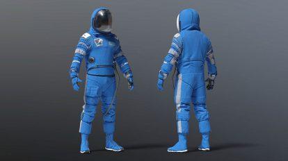 مدل سه بعدی لباس فضانورد بویینگ Spacesuit Boeing