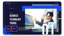پروژه پریمیر تیزر تبلیغاتی معرفی تکنولوژی جدید Business Technology Trends