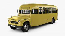 مدل سه بعدی اتوبوس مدرسه Chevrolet 6700 School Bus