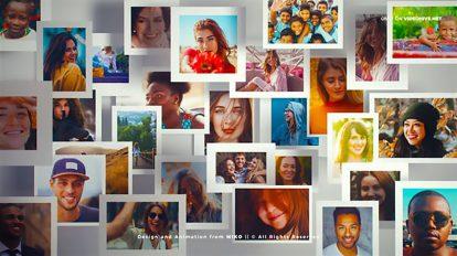 پروژه افترافکت نمایش لوگو Community Multi Photo Frames Logo Opener