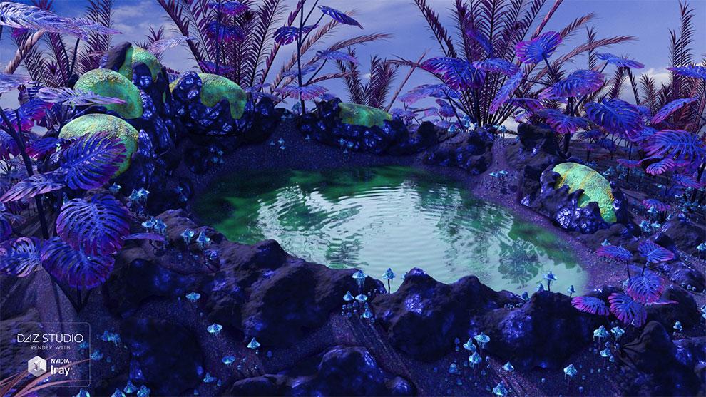 مدل سه بعدی محیط سیاره بیگانه Alien Place