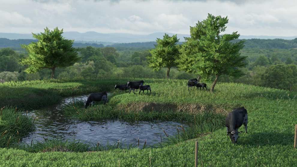 مجموعه مدل سه بعدی ساخت محیط مزرعه Modular Field Environment