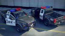 مجموعه مدل سه بعدی ماشین پلیس Police Vehicles Bundle