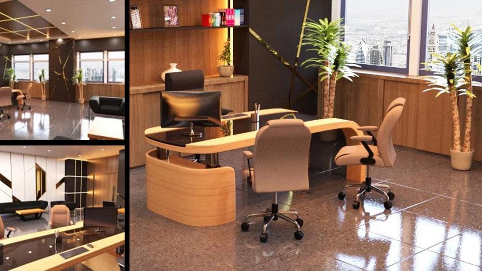 مدل سه بعدی دفتر کار Private Office