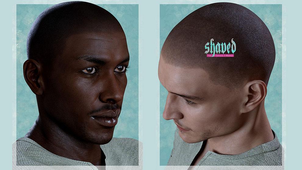 مجموعه مدل سه بعدی موی تراشیده Shaved Hair for Genesis 3