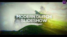 پروژه پریمیر پرو اسلایدشو مدرن Modern Glitch Slideshow