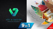 پروژه افترافکت نمایش لوگو ترسیم سه بعدی Drawing 3D Logo