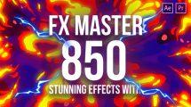 پروژه افترافکت افکت های کارتونی FX Master Cartoon Action Elements
