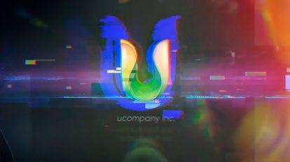 پروژه افترافکت نمایش لوگو با افکت گلیچ Glitch Logo