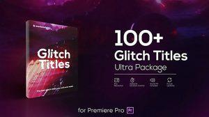 پروژه پریمیر مجموعه عناوین متحرک گلیچ Glitch Titles Pack for Premiere