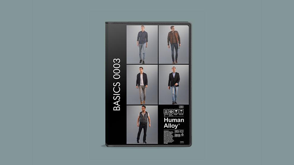 مجموعه مدل سه بعدی مرد Human Alloy Basics 0003