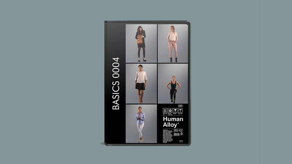 مجموعه مدل سه بعدی زن Human Alloy Basics 0004