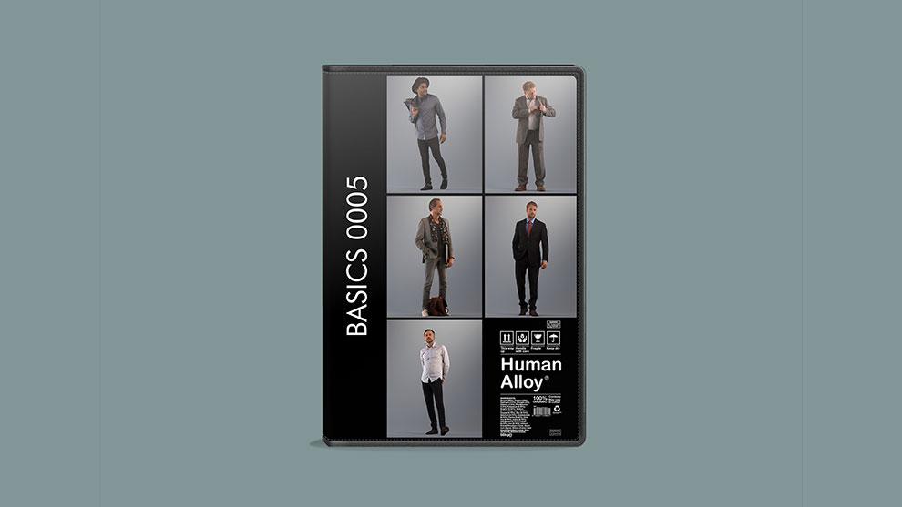 مجموعه مدل سه بعدی مرد Human Alloy Basics 0005