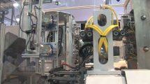 فوتیج حرکت سیستم رباتیک کارخانه صنعتی